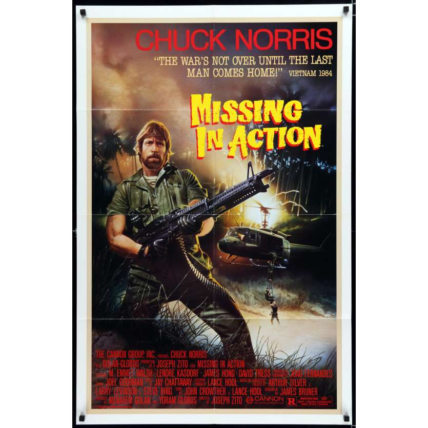 MISSING IN ACTION US Movie Poster 29x41 - 1984 - Joseph Zito, Chuck Norris