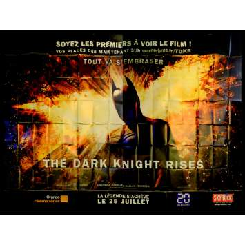 BATMAN THE DARK KNIGHT RISES French Billboard Movie Poster 158x118 - 2012 - Christopher Nolan, Christian Bale