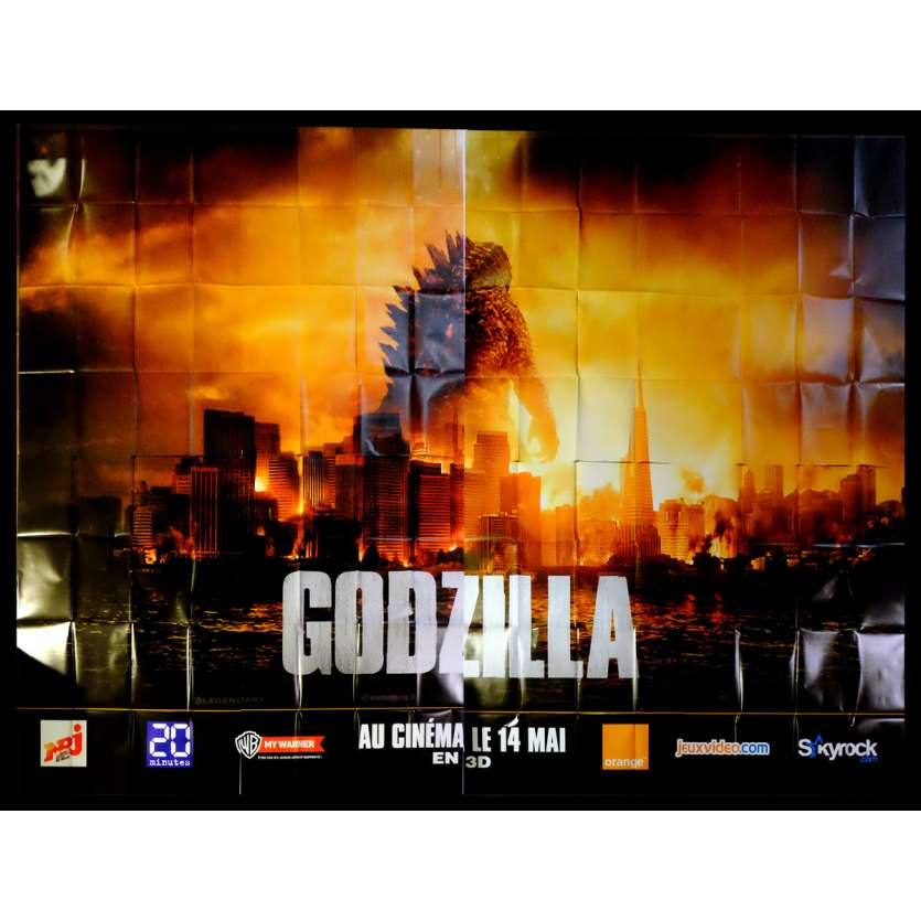 GODZILLA French Billboard Movie Poster 158x118 - 2014 - Gareth Edwards, Bryan Cranston