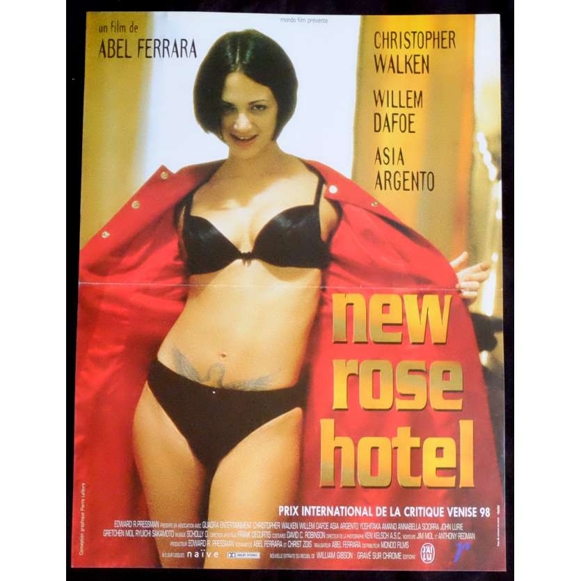 NEW ROSE HOTEL French Movie Poster 15x21 - 1998 - Abel Ferrara, Asia Argento