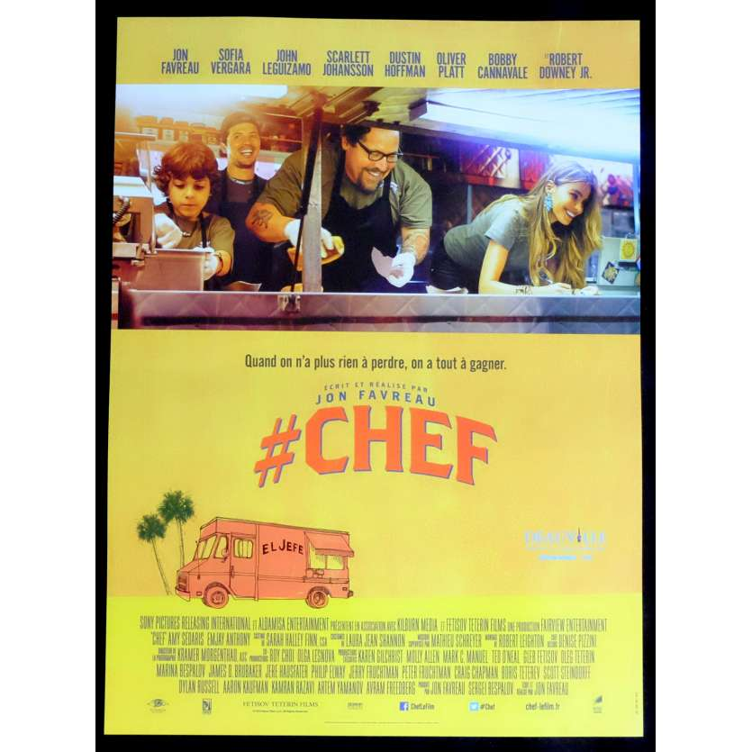 CHEF French Movie Poster 15x21 - 2014 - Jon Favreau, Scarlett Johansson