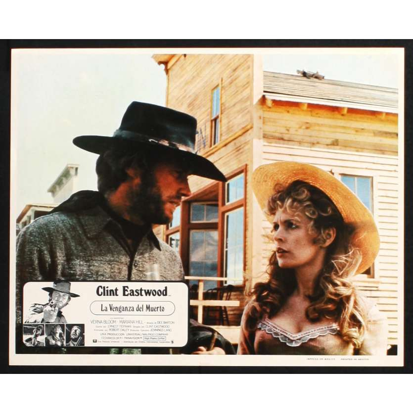 HIGH PLAINS DRIFTER Mexican Lobby Card N1 11x14 - 1973 - Clint Eastwood, Verna Bloom