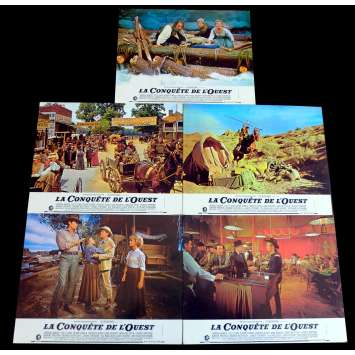 HOW THE WEST WAS WON French Lobby Cards x5 9x12 - 1968 - Sergio Leone, Clint Eastwood