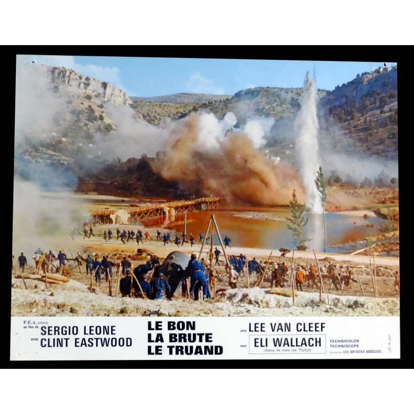 THE GOD THE BAD AND THE UGLY French Lobby Card N5 9x12 - 1968 - Sergio Leone, Clint Eastwood