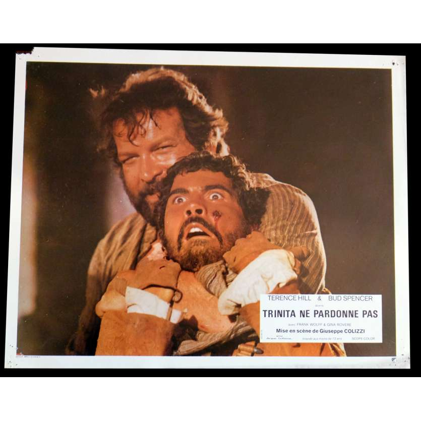 GOD FORGIVES I DON'T French Lobby Card N7 9x12 - 1972 - Giuseppe Colizzi, Terence Hill, Bud Spencer