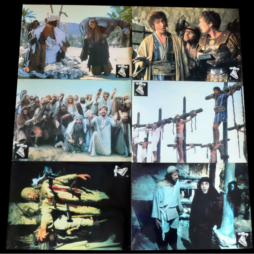 LIFE OF BRIAN French Lobby Cards x6 9x12 - 1979 - Terry Jones, John Cleese