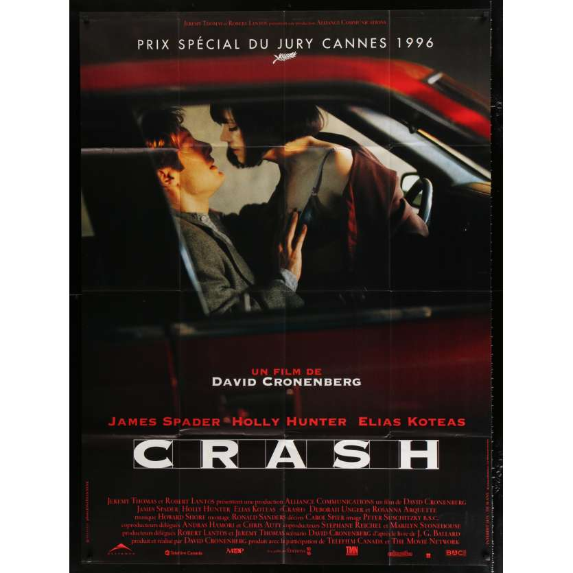 CRASH French Movie Poster 47x63 - 1996 - David Cronenberg, Holly Hunter