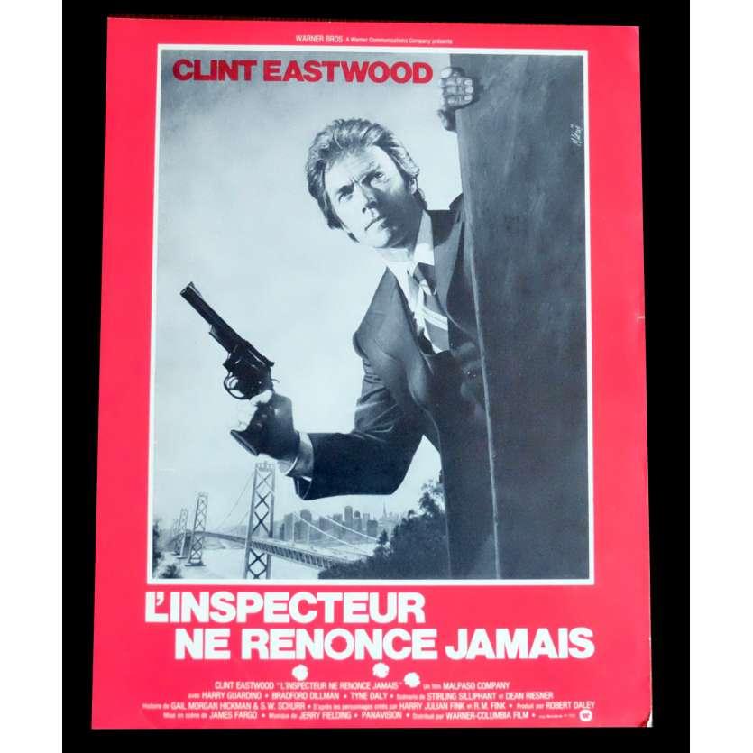 L'INSPECTEUR NE RENONCE JAMAIS Flyer 21x30 - 1976 - Clint Eastwood, James Fargo
