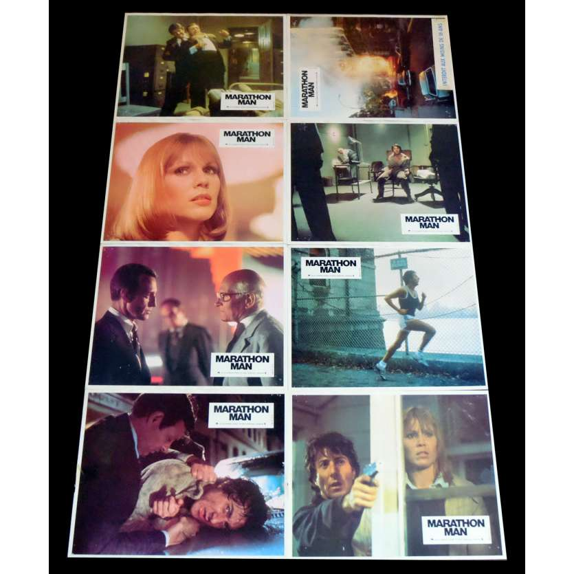 MARATHON MAN French Lobby Cards x16 9x12 - 1976 - John Schlesinger, Dustin Hoffman