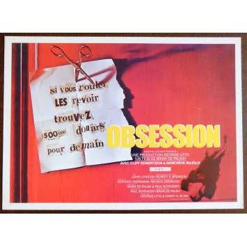 OBSESSION Flyer 21x30 - 1976 - John Lithgow, Brain de Palma
