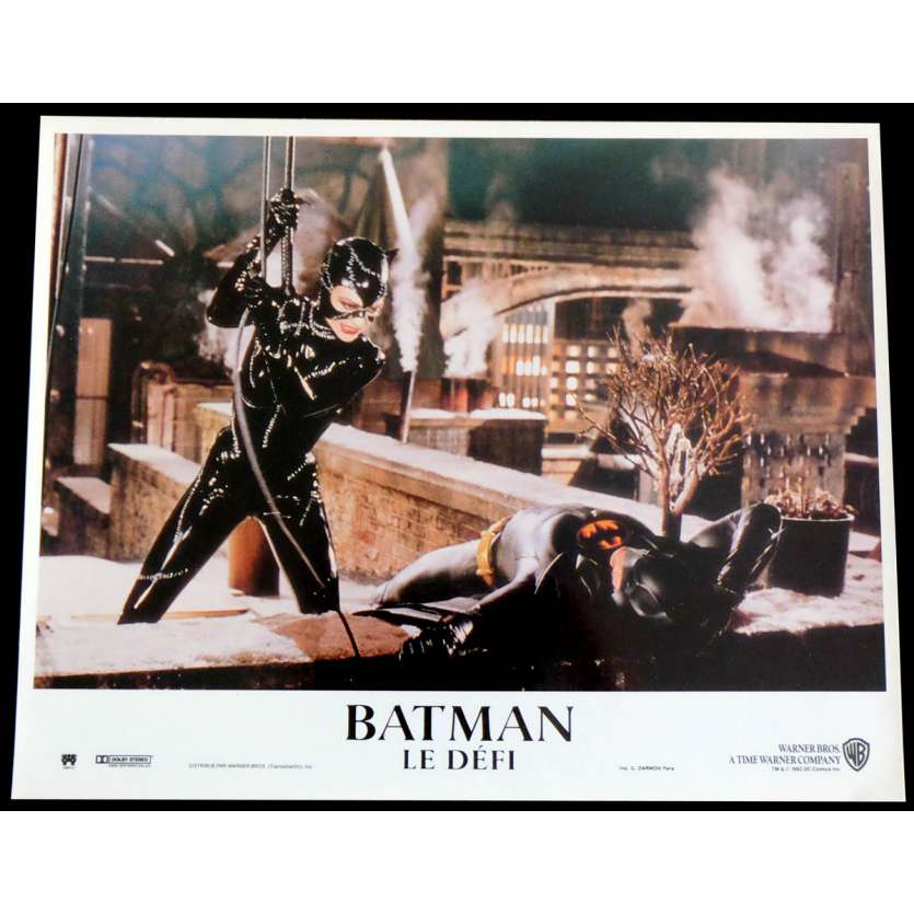 BATMAN RETURNS French Lobby Card N8 9X12 - 1992 - Tim Burton, Michele Pfeiffer