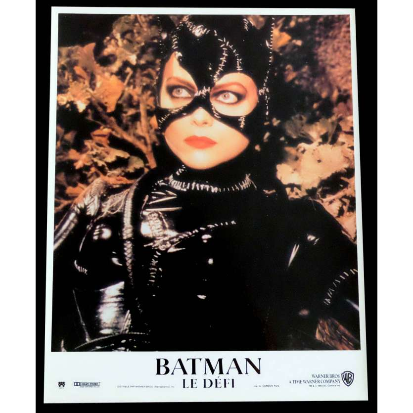 BATMAN RETURNS French Lobby Card N1 9X12 - 1992 - Tim Burton, Michele Pfeiffer