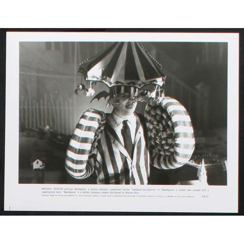 BEETLEJUICE Photo de presse N1 20x25 - 1988 - Michael Keaton, Tim Burton