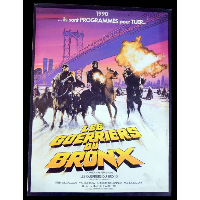 LES GUERRIERS DU BRONX Flyer 21X30 - 1982 - Fred Williamson, Enzo G. Castellari
