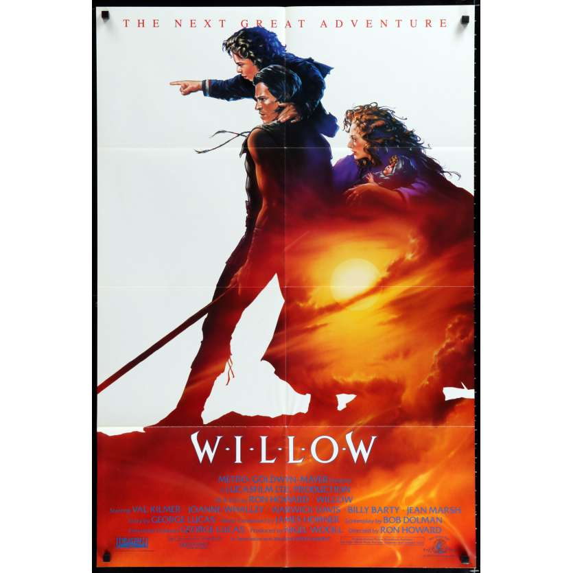 WILLOW US Movie Poster 29x41 - 1988 - Ron Howard, Val Kilmer