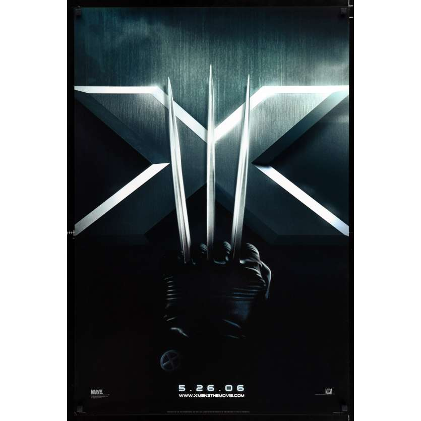X-MEN: THE LAST STAND US Movie Poster 29x41 - 2006 - Brett Ratner, Hugh Jackman
