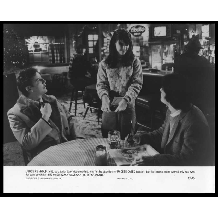 GREMLINS Photo de presse N9 20x25 - 1984 - Zach Galligan, Joe Dante