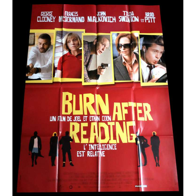 BURN AFTER READING French Movie Poster 47x63 - 2008 - Ethan Cohen, Brad Pitt