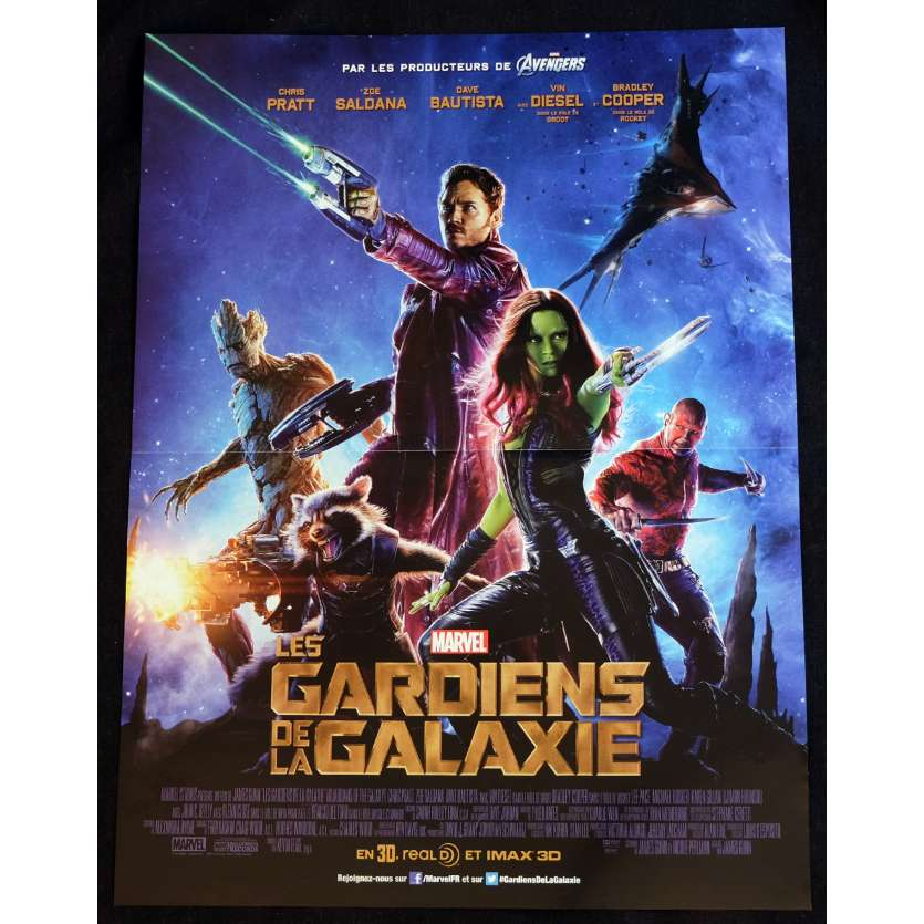 LES GARDIENS DE LA GALAXIE Affiche de film 40x60 - 2014 - Chris Pratt, James Gunn