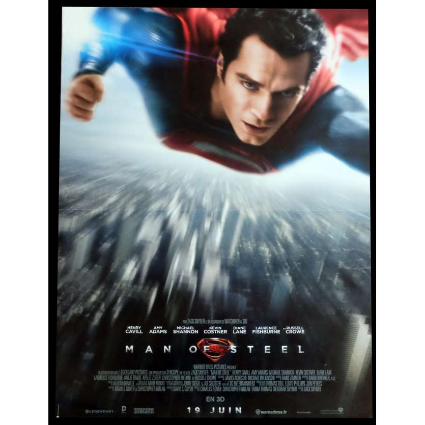 MAN OF STEEL French Movie Poster 15x21 - 2013 - Zack Snyder, Henry Cavill