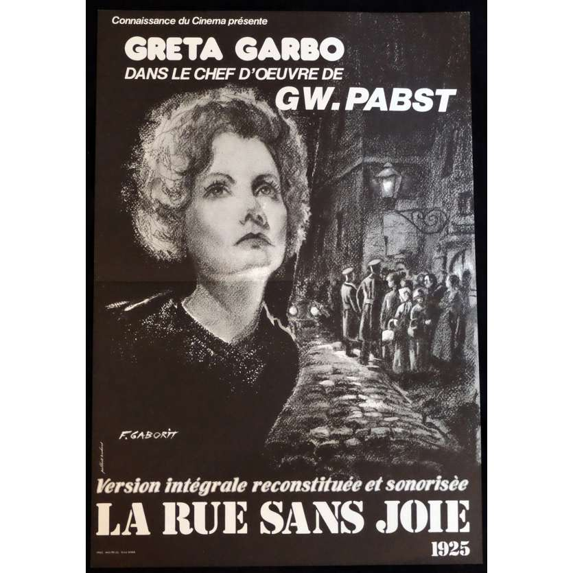 THE STREET OF SORROW Style A French Movie Poster 15x21 - 1999 - G. W. Pabst, Greta Garbo