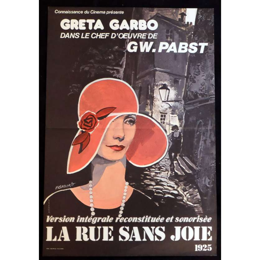 THE STREET OF SORROW Style B French Movie Poster 15x21 - 1999 - G. W. Pabst, Greta Garbo