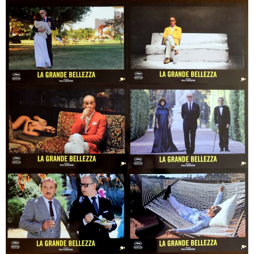 LA GRANDE BELLEZZA French Lobby Cards x6 9x12 - 2013 - Paolo Sorrentino, Toni Servillo