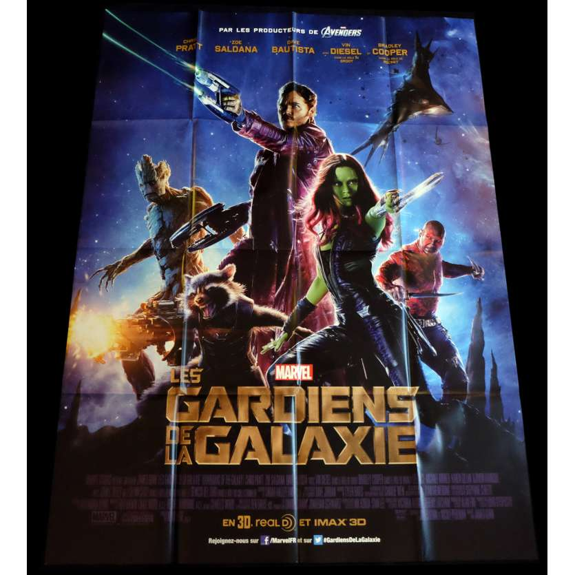 LES GARDIENS DE LA GALAXIE Affiche de film 120x160 - 2014 - Chris Pratt, James Gunn