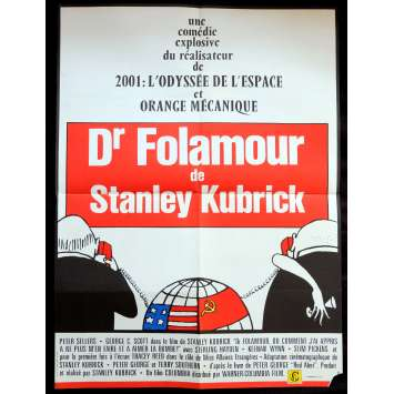 DR. STRANGELOVE French Movie Poster 23x32 - R1980 - Stanley Kubrick, Peter Sellers