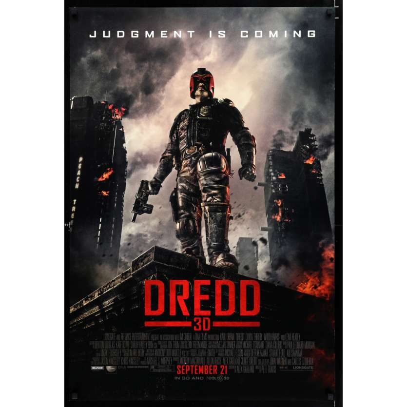 DREDD Affiche de film 69x104 - 2012 - Karl Urban, Pete Travis