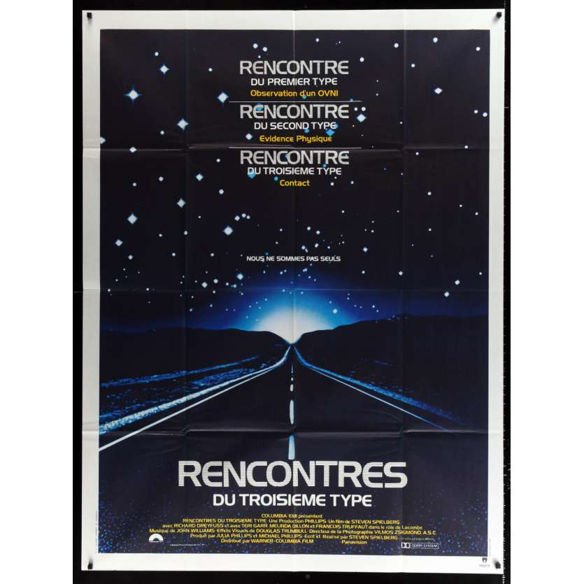 CLOSE ENCOUNTERS OF THE THIRD KIND French Movie Poster 47x63 - 1977 - Steven Spielberg, Richard Dreyfuss