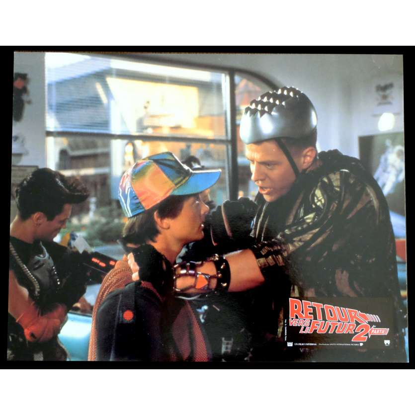 BACK TO THE FUTURE II French Lobby Card N6 9x12 - 1989 - Robert Zemeckis, Michael J. Fox