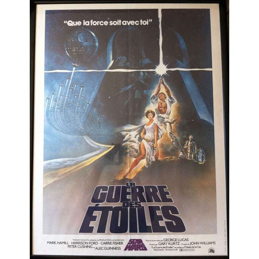 STAR WARS Affiche du film française 1977