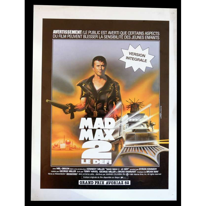 MAD MAX 2 Flyer 21x30 - 1982 - Mel Gibson, George Miller