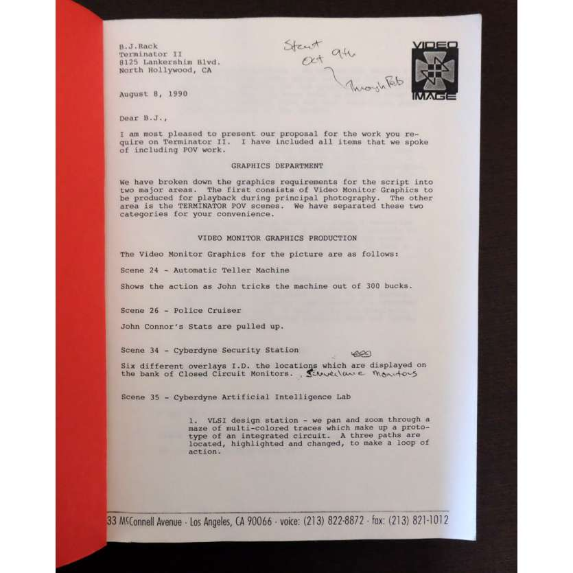 TERMINATOR 2 US Movie Script 9x12 - 1992 - James Cameron, Arnold Schwarzenegger