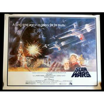 STAR WARS - A NEW HOPE US Movie Poster 22x28 - 1977 - George Lucas, Harrison Ford