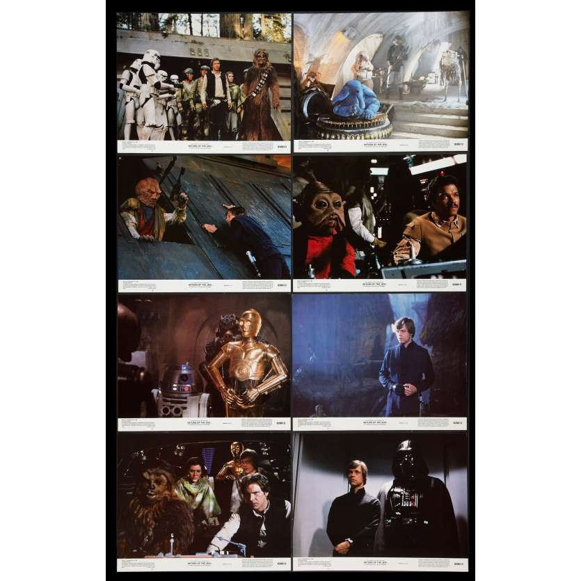 STAR WARS - RETURN OF THE JEDI US Lobby Cards x8 11x14 - 1983 - Richard Marquand, Harrison Ford