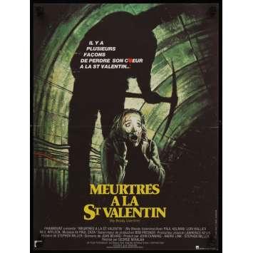 MEUTRES A LA ST VALENTIN Horreur Affiche originale française