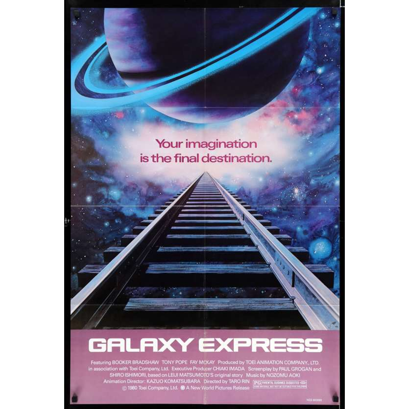 GALAXY EXPRESS 999 US Movie Poster 29x41 - 1980 - Rintaro, Mazako Mozawa