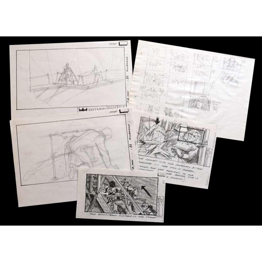 BATMAN US Storyboards 9x12 - 1989 - Tim Burton, Michael Keaton