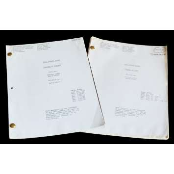 HILL STREET BLUES US Lot of 2 TV Script 9x12 - 1985 - Steven Bochko, Daniel J. Travanti