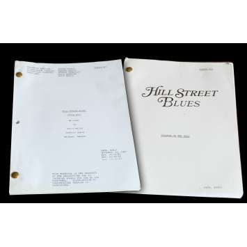 HILL STREET BLUES US Lot of 2 TV Script 9x12 - 1982 - Steven Bochko, Daniel J. Travanti