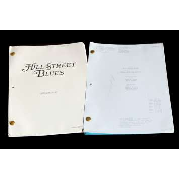 HILL STREET BLUES US Lot of 2 TV Script 9x12 - 1984 - Steven Bochko, Daniel J. Travanti