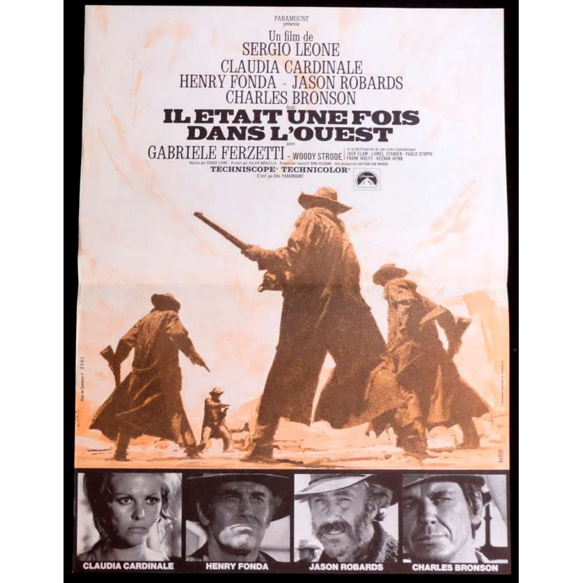 ONCE UPON A TIME IN WEST French Movie Poster 15x21 - 1968 - Sergio Leone, Charles Bronson