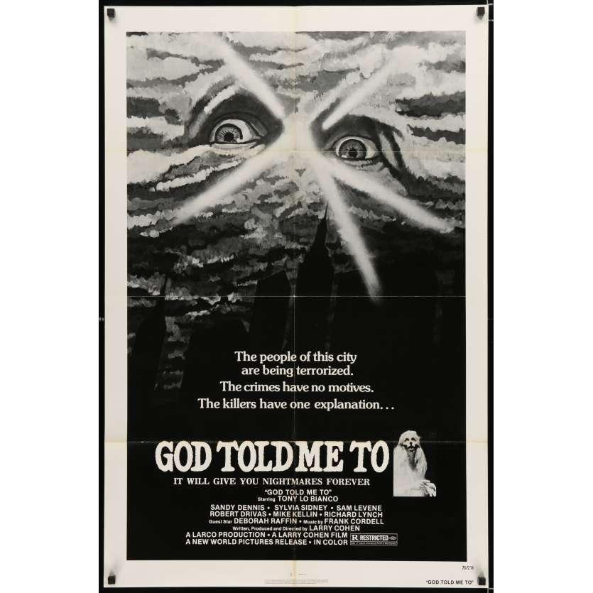 MEURTRES SOUS CONTROLE Affiche US '76 Larry Cohen Horror movie poster