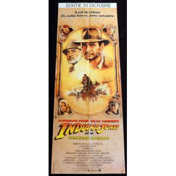 INDIANA JONES AND THE LAST CRUSADE French Movie Poster 23x63 - 1989 - Steven Spielberg, Harrison Ford -