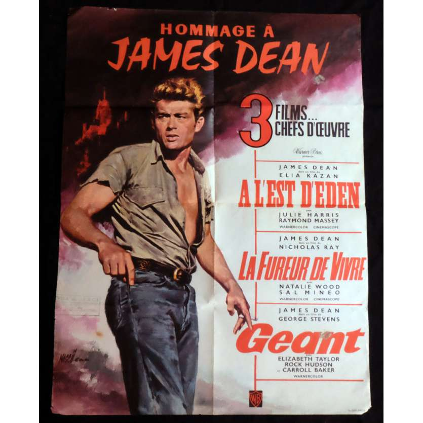 HOMMAGE A JAMES DEAN French Movie Poster 23x32 - 1968 - Elia Kazan, James Dean -