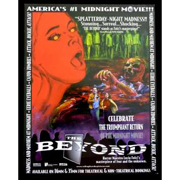 THE BEYOND US Flyer 9x12 - R1998 - Lucio Fulci, Catriona MacColl