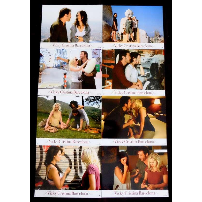 VICKY CHRISTINA BARCELONA French Lobby Cards 9x12 - 2008 - Pedro Almodovar, Scarlett Johansson