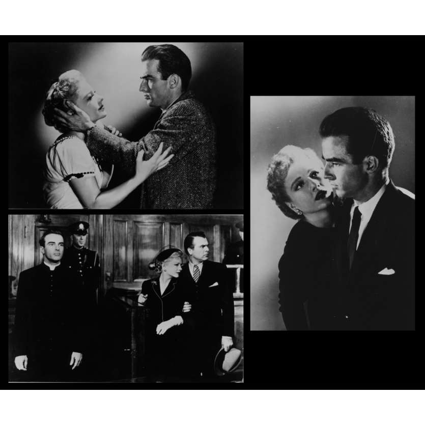 I CONFESS French Press Still X3 4x6 - R1970 - Alfred Hitchcock, Montgomery Clift